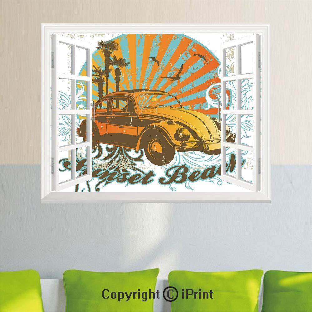 Amazon.com: Simulation Window Stickers,Pop Art Stylized ...