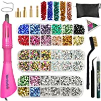Hotfix Applicator, Hot Fix Rhinestones Setter Applicator Tool, Bedazzle Kit with Rhinestones,3 Boxes AB,Rainbow,Clear…