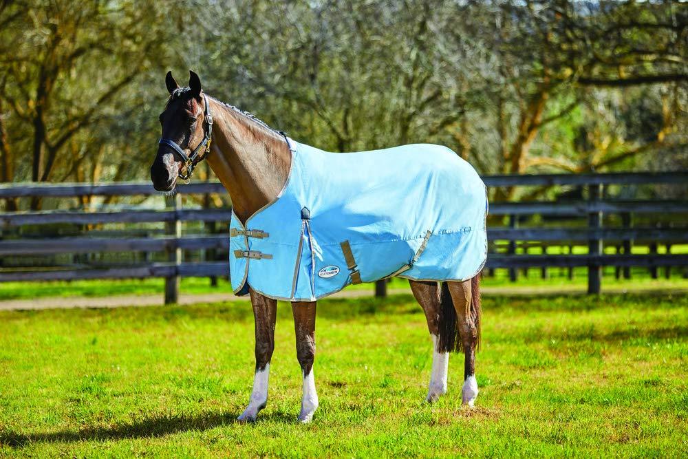 LIGHT blueE TAUPE 5'3 LIGHT blueE TAUPE 5'3 WEATHERBEETA COMFITEC Classic Standard Neck LITE Horse Rug