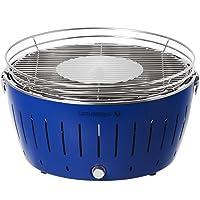 Special Grill Lotusgrill 435 XL klein blau Edelstahl Stahl Kunststoff Exclusive Balkon Camping Picknick ✔ rund ✔ tragbar rauchfrei ✔ Grillen mit Holzkohle ✔ für den Tisch