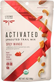 product image for Living Intentions Trail Mix - Organic - Sprouted - Mango Goji Fire - 7 oz - case of 6 - 95%+ Organic - Gluten Free - Vegan