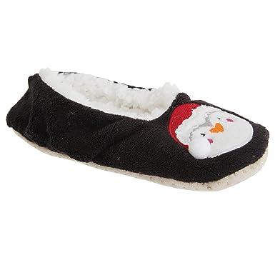 Pingouin Femme Eu Chaussons De noir 41 40 Noël Slumberzzz qwFa8TxP