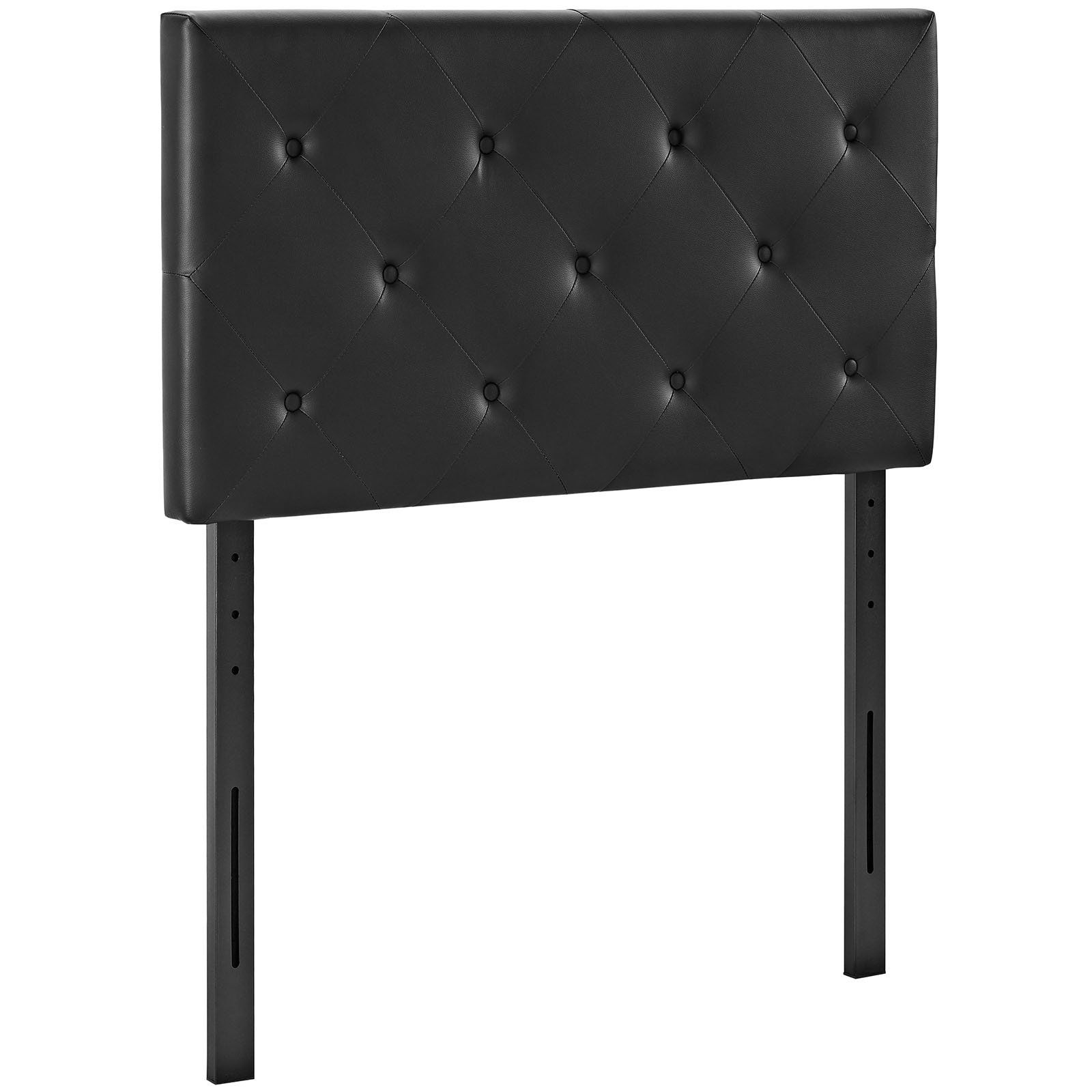 Modway Terisa Tufted Faux Leather Twin Size Headboard in Black