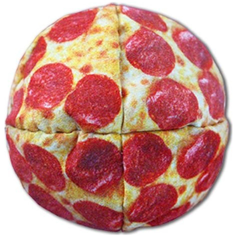 Graphic Hack Paneled Full Color Footbags Hacky Sacks - Pizza Hack Alt Listing 1