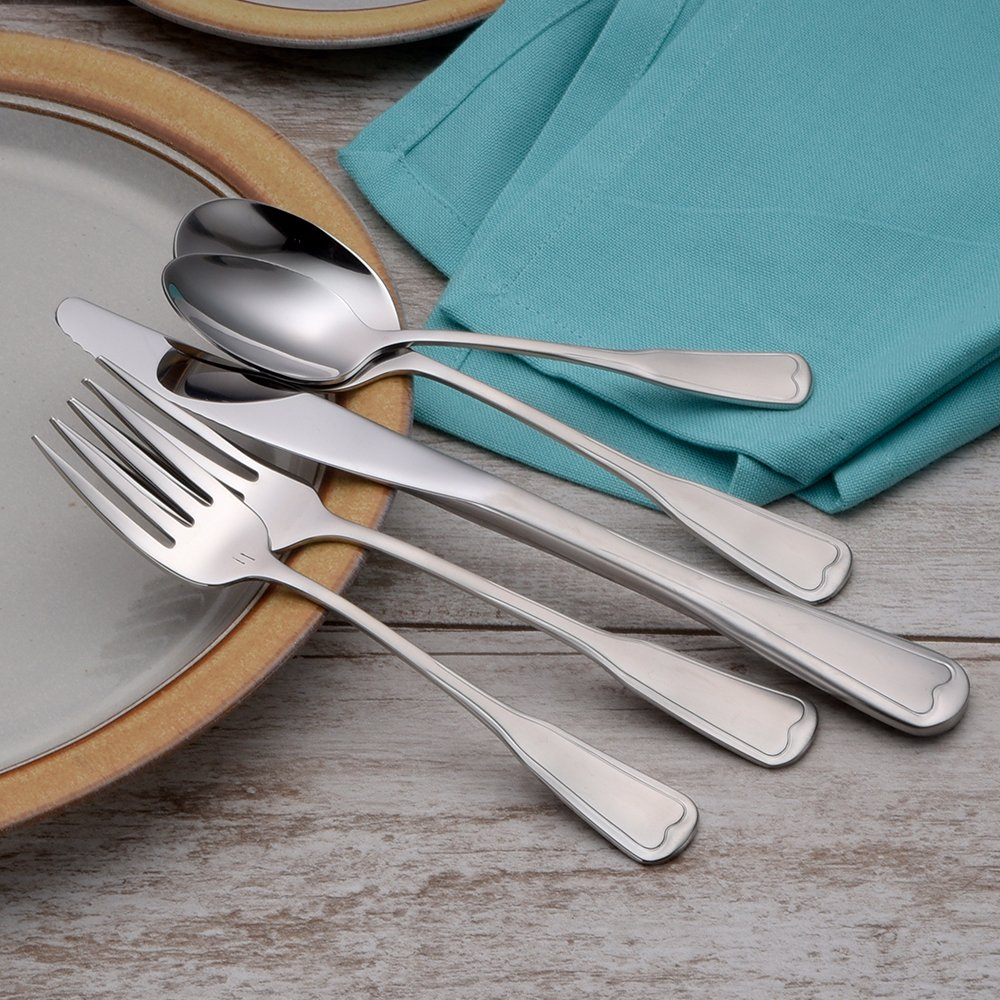 Liberty Tabletop Satin Richmond 20 Piece Flatware Set service for 4 stainless steel 18/10 Made in USA by Liberty Tabletop (Image #8)