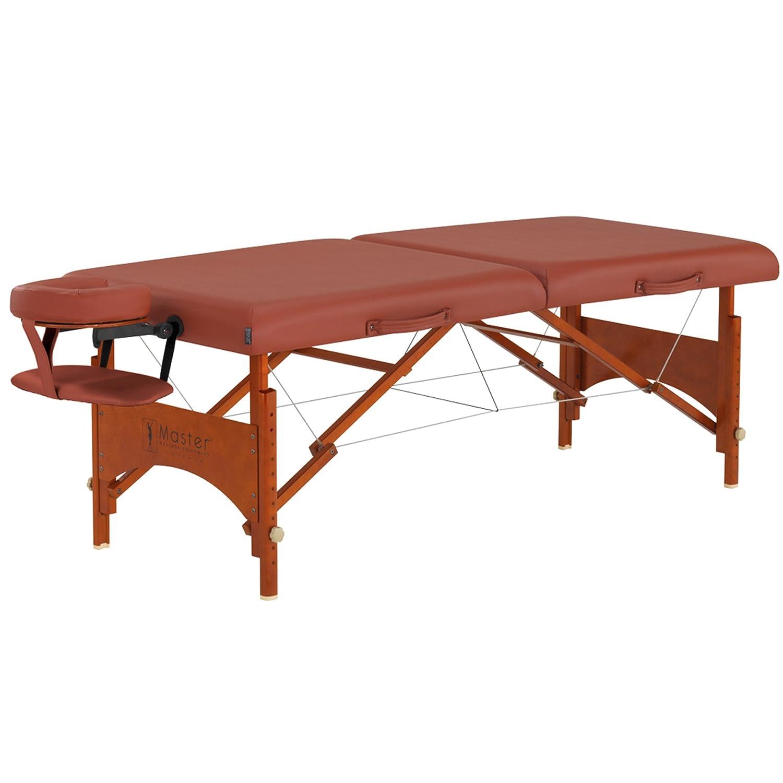 Master Massage 28 Fairlane Pro Portable Massage Table Package in Cinnamon