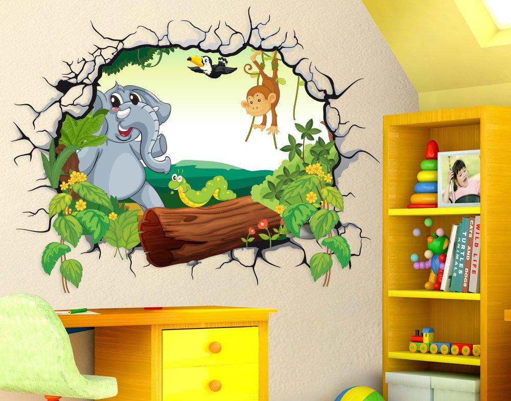 Ben noto Adesivi murali bambini StickerDesign Adesivo Murale effetto 3D  WR58