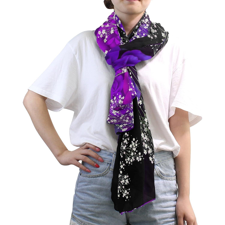 MRMIAN Japanese Style 4 Long Lightweight Silk Chiffon Scarf Wrap Stole