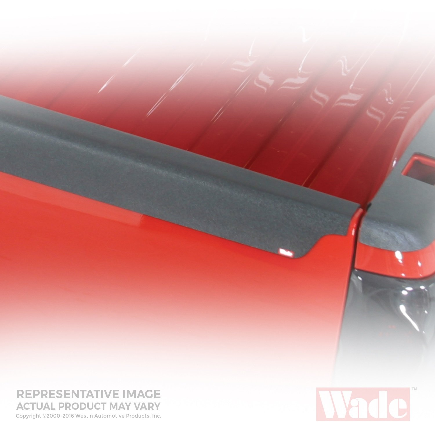 Wade 72-01191 Truck Bed Tailgate Cap Black Smooth Finish for 1988-1998 Chevrolet GMC 1500 2500 3500 Except Stepside bed