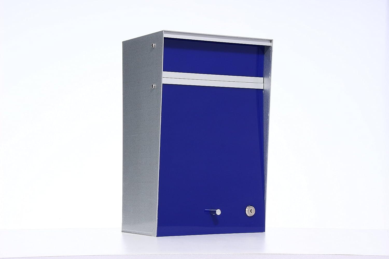 Box Design ポスト 郵便受け Wall Mounted  Blue B00W6HVQ7Q 28080 Blue Blue