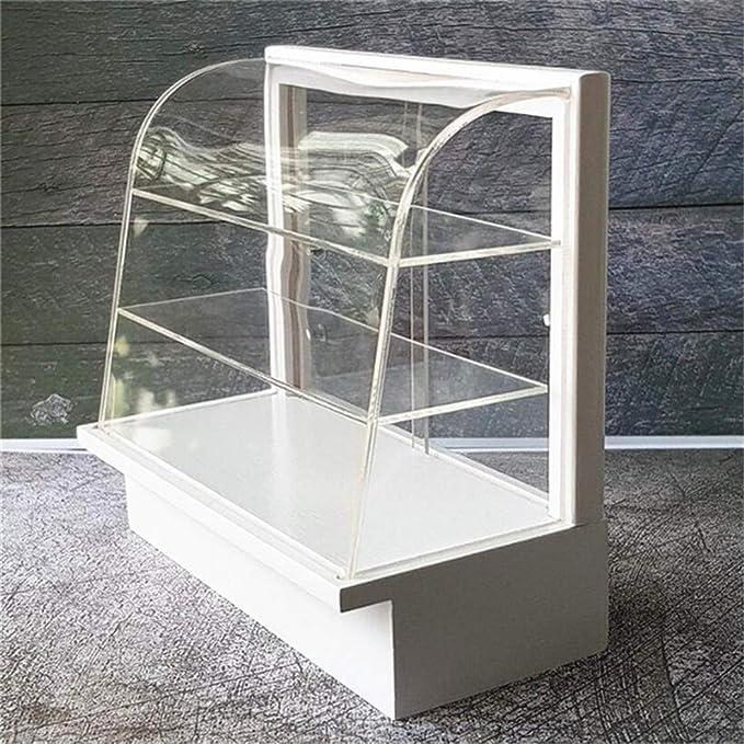 1//12 Mini Dollhouse Acrylic Cake Plate Stand Fruit Snacks Tray w// Lid #1