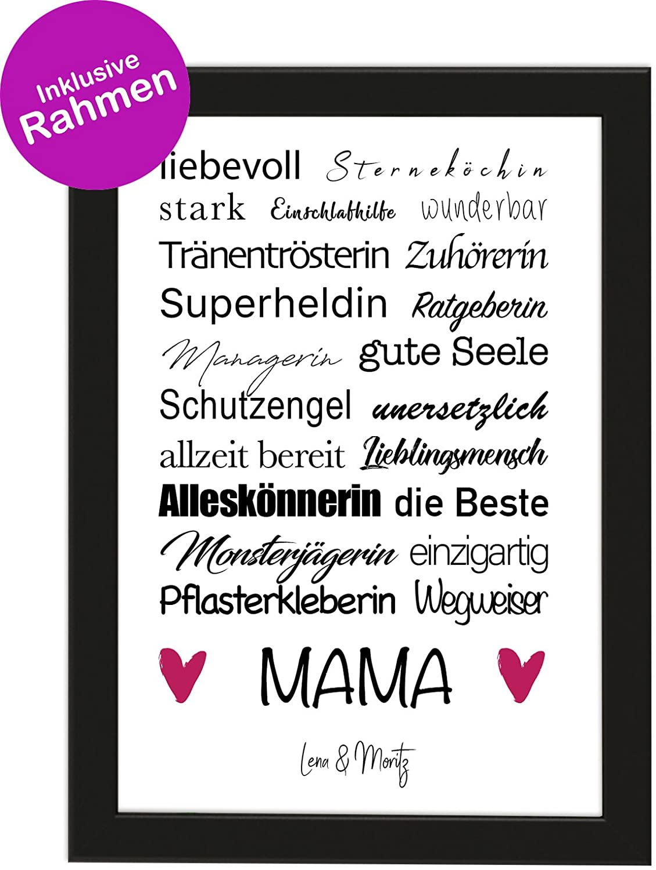 Personalisiertes Muttertagsgeschenk Poster DIN A4 \