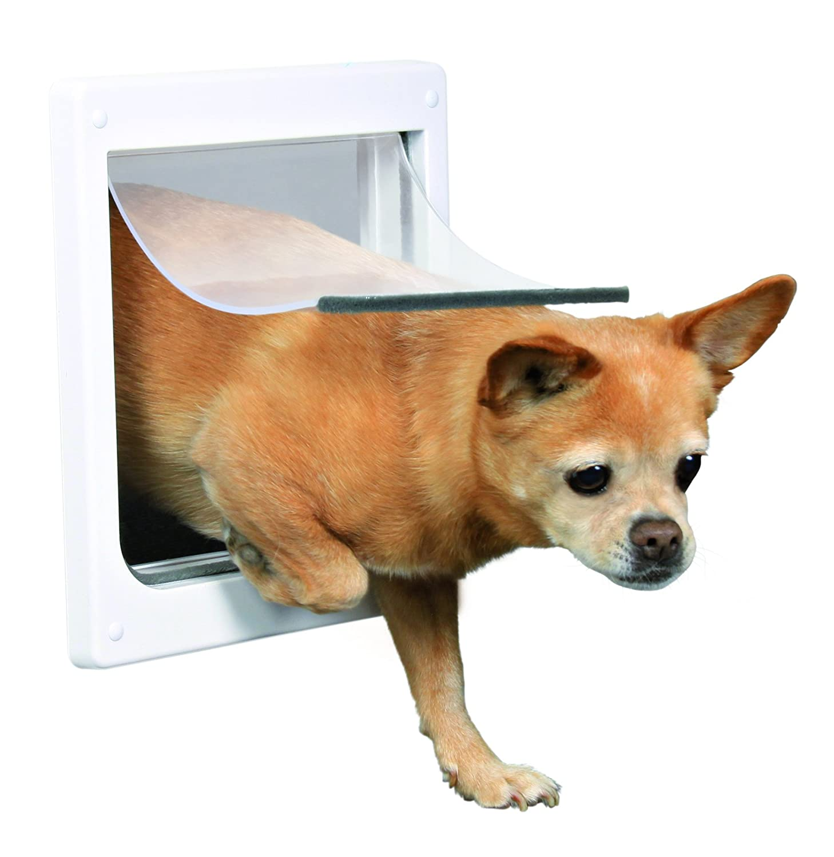Blanco S-M Trixie Puerta Perros 2 Posiciones