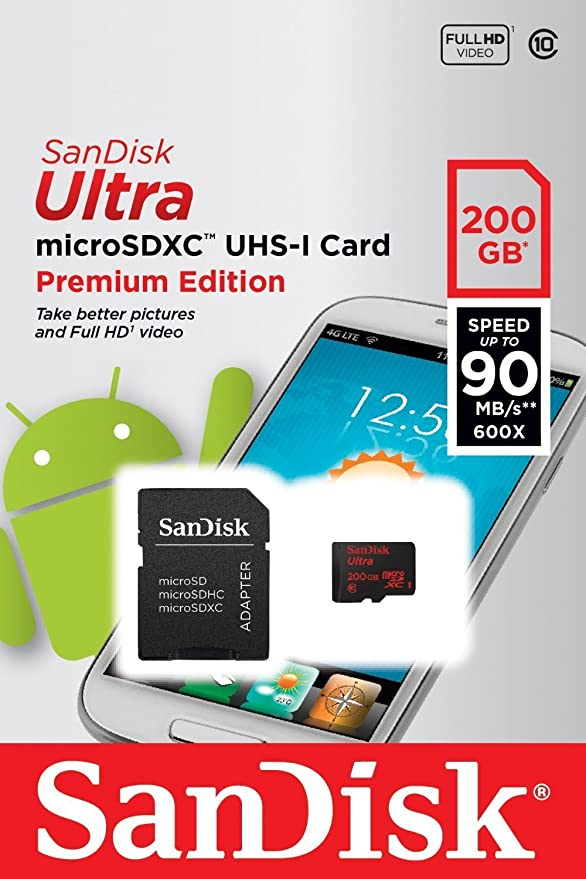 100MBs A1 U1 C10 Works with SanDisk ThinQ by SanFlash SanDisk Ultra 200GB MicroSDXC Verified for LG G7