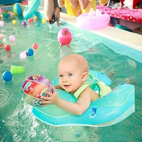 FLYMEI Global Flotador de natación para bebé con Asiento yanillo de Seguridad,Juguetes para natación