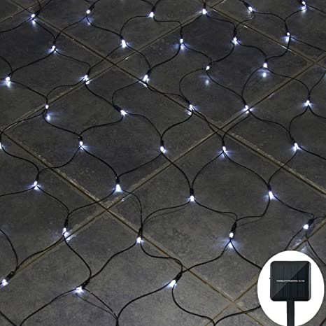 reputable site da56a 0088f Solar Net Lights Outdoor Mesh Lights Waterproof with 8 Lighting Modes,Auto  On/Off,200Leds Starry Fairy String Lights Back Yard Patio Twinkling Lights  ...