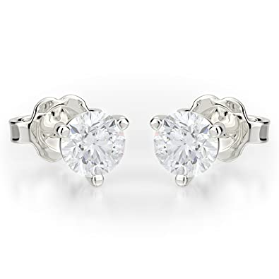 8ad94c67d Image Unavailable. Image not available for. Color: 1.00ctw Round Cut  Forever One Near Colorless Moissanite 14K Gold Stud Earrings
