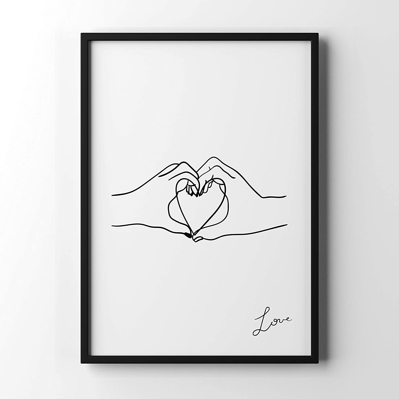 Hand in Hand Poster damour en Papier forg/é de qualit/é sup/érieure Motiv: Love 1 29,7cm x 42cm DIN A3 D/écoration Murale /él/égante pour Le Cadre Photo dans de Nombreux formats