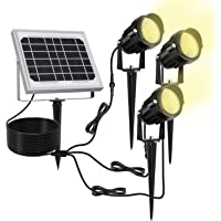 Luz Solar para Exterior, MEIKEE Foco Solar Blanca