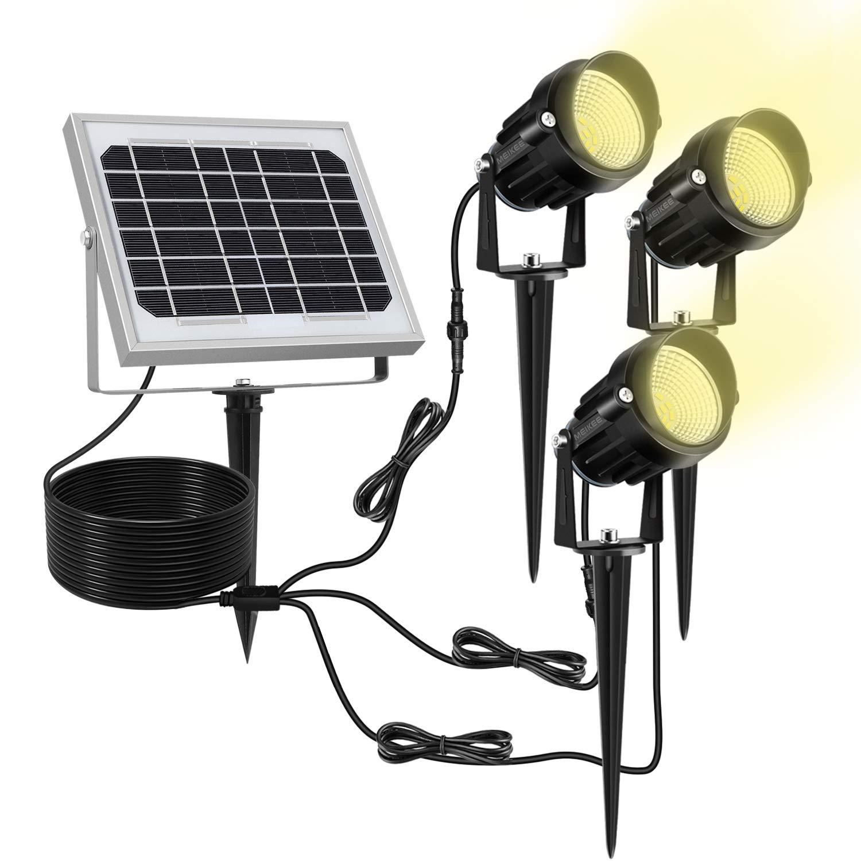 LED SolarStrahler leuchte Gartenlampe Spot Licht Solar Strahler Warmweiß IP65