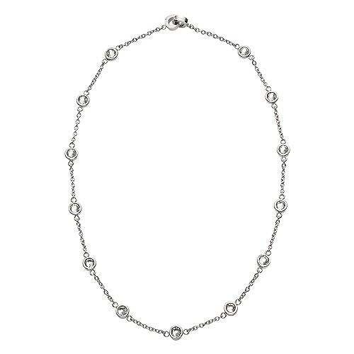 Jewels by Leonardo Collar de la Cadena Mujer Acero ...