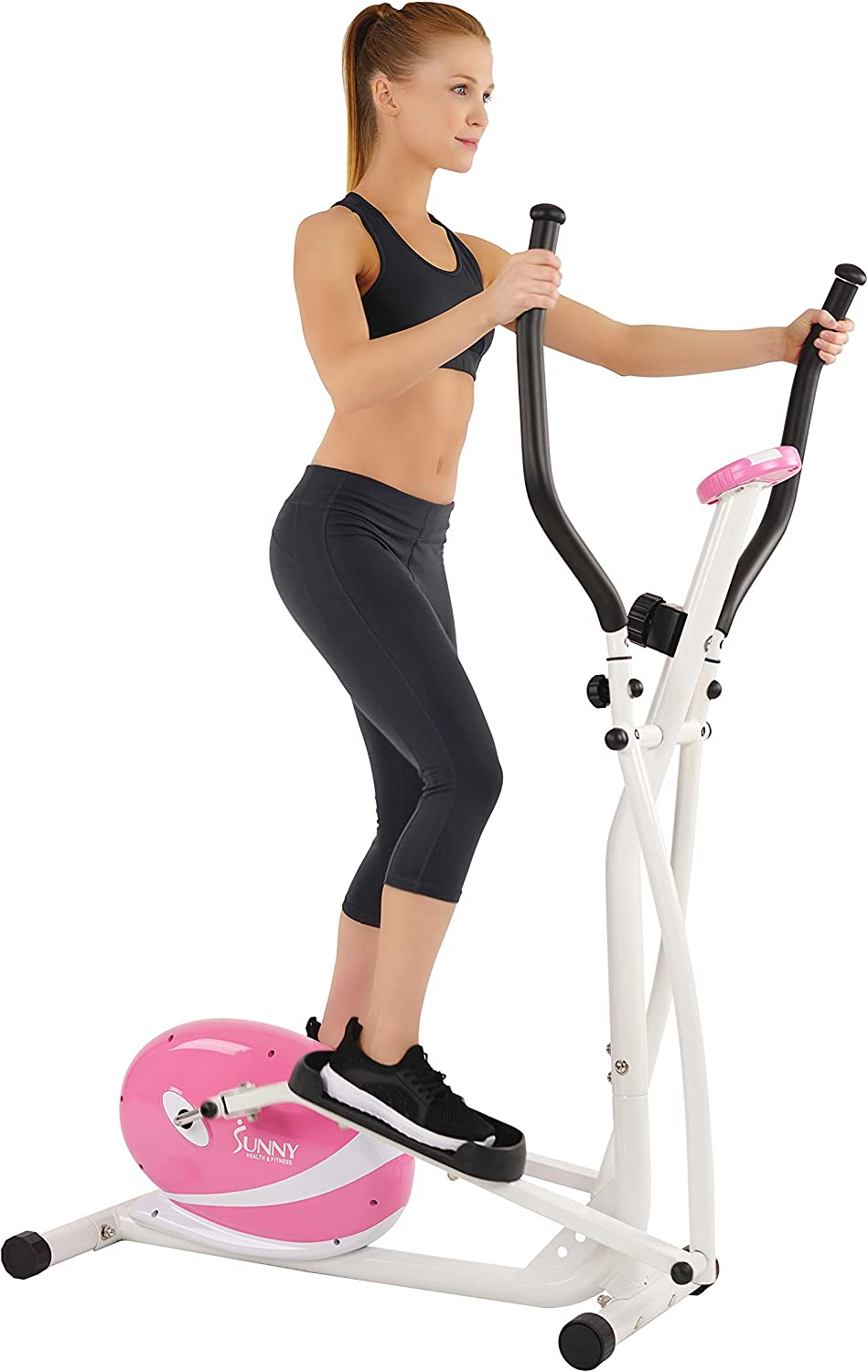 Sunny Health & Fitness P8300 Pink Magnetic Elliptical Trainer Elliptical Machine