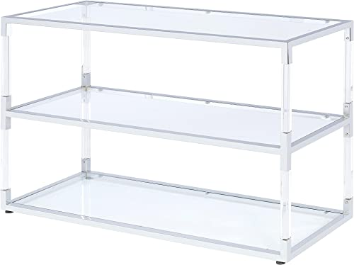 ACME Furniture 91245 Raegan Chrome And Acrylic Console Table, One Size