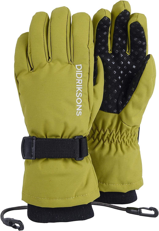 Didriksons Biggles Five Kids Gloves Windproof Waterproof Green