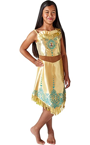 Rubies 640730M Disfraz de princesa Disney Pocahontas Gem, Niñas ...