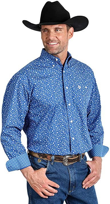 Long Sleeve Western Shirt Blue