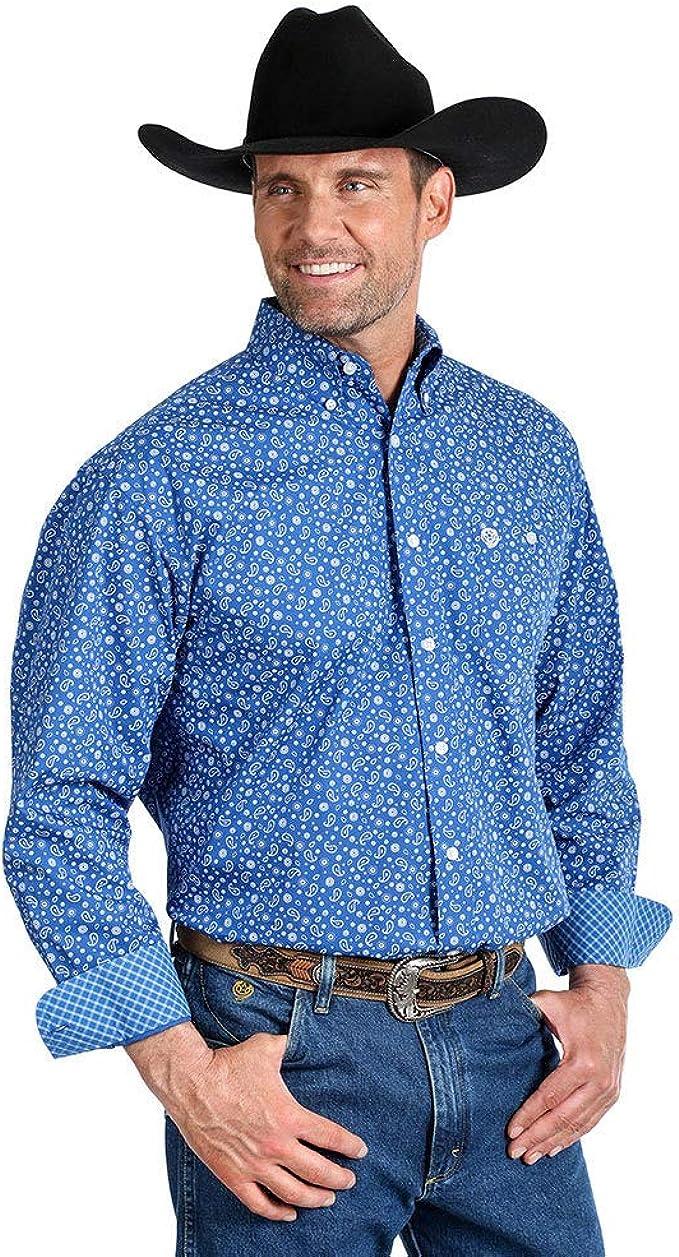 Wrangler Camisa de manga larga para hombre, diseño de George ...