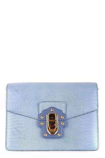 5900bf5d29 Dolce E Gabbana Women s Mcbi099394o Light Blue Leather Shoulder Bag   Amazon.co.uk  Clothing