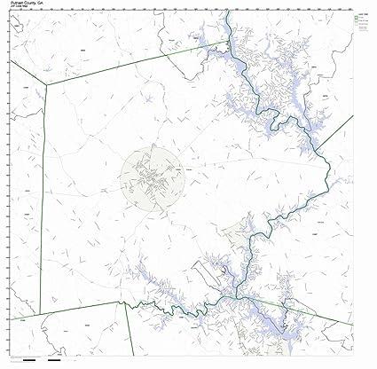 Map Of Georgia Zip Codes.Amazon Com Putnam County Georgia Ga Zip Code Map Not Laminated