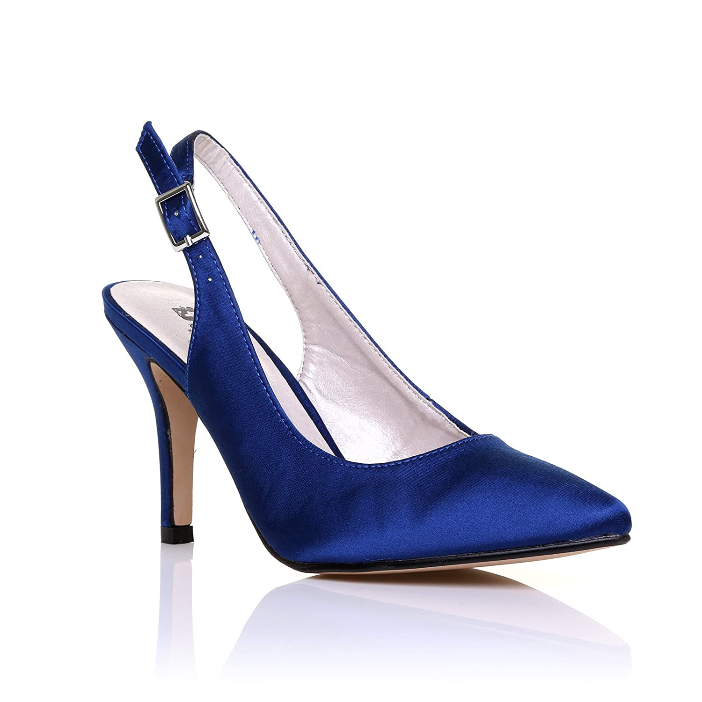 Bout Shuwish À Femme Pointu Uk Aqheaew Chaussures Électrique Bleu AfFqSww