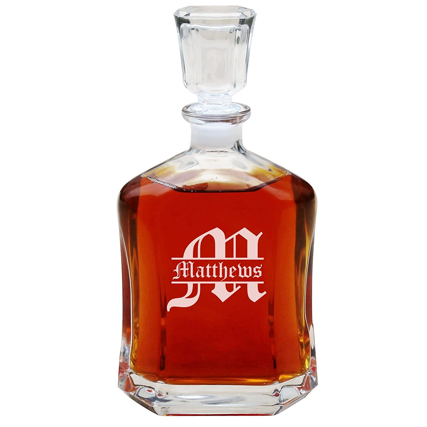 Personalized Whiskey Decanter, Custom Engraved Liquor Decanter Gifts - 23 Oz - Free Engraving My Personal Memories