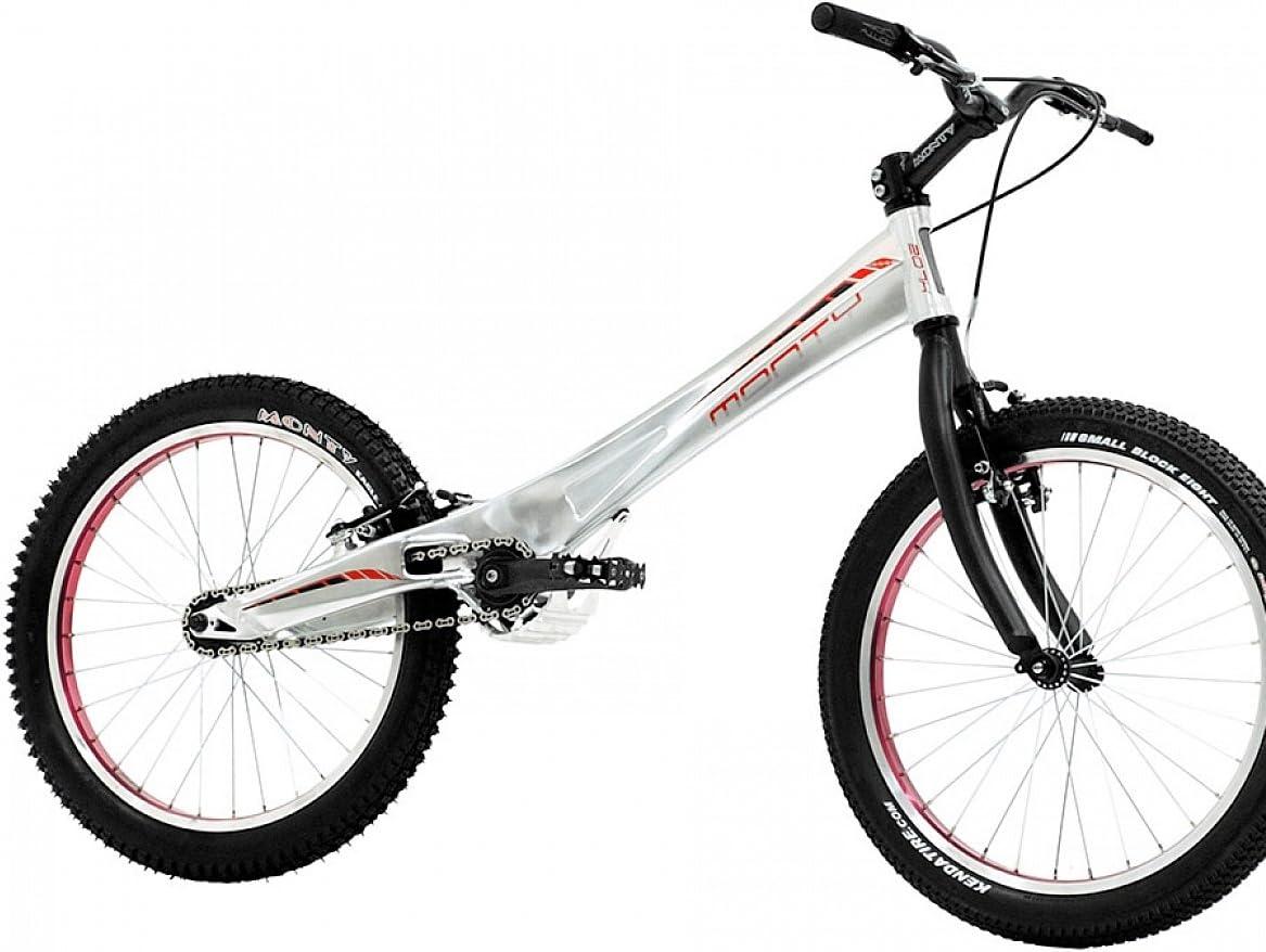 Monty 207k - Bicicleta de Trial para niño, Color Plateado/Rojo ...
