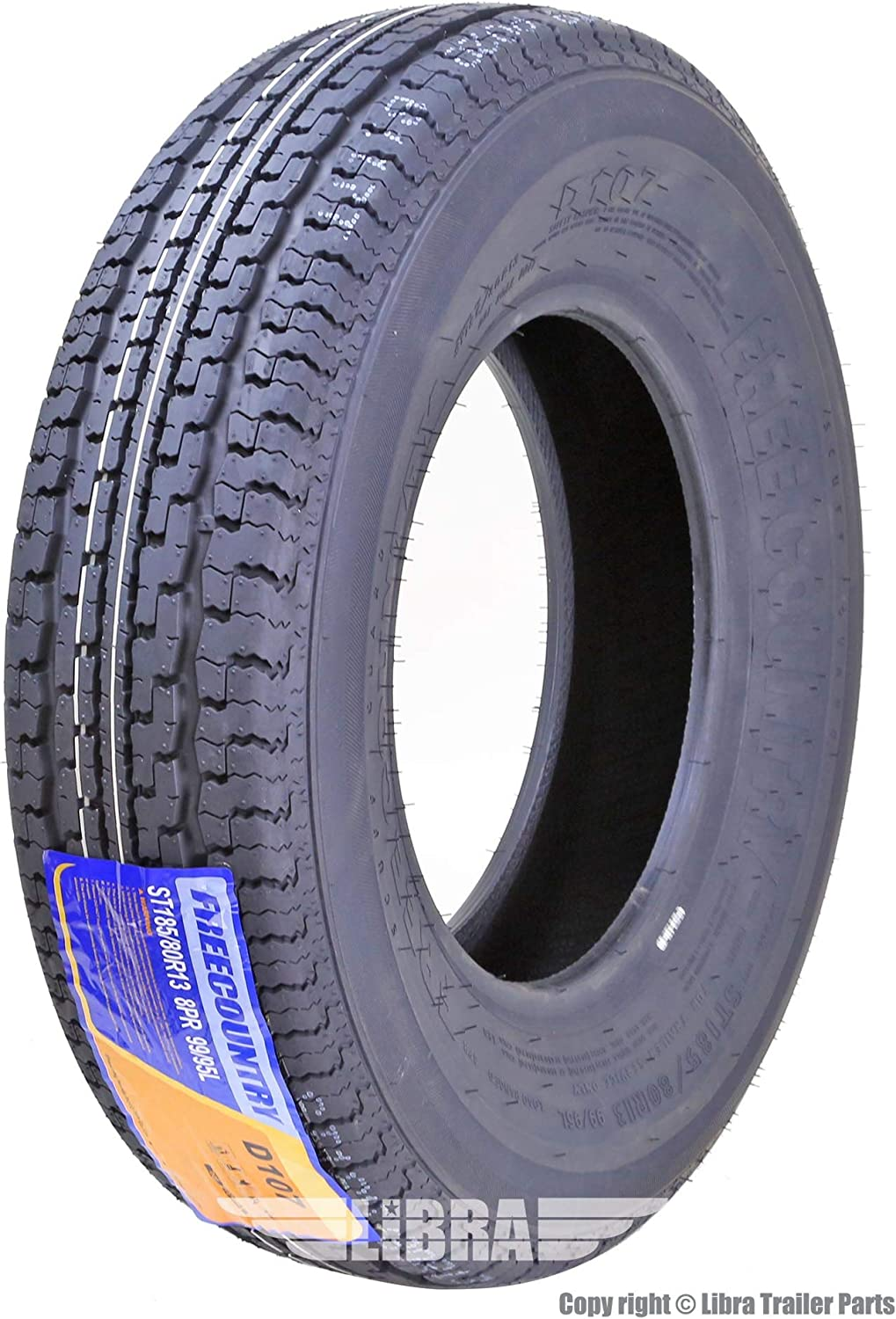 Wheels & Tires One Premium FREE COUNTRY Trailer Tire ST185/80R13 ...
