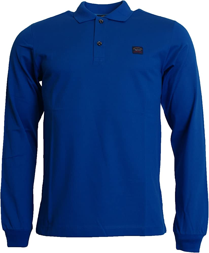 PAUL & SHARK Camisa De Polo De Manga Larga Azul XX Grande: Amazon ...