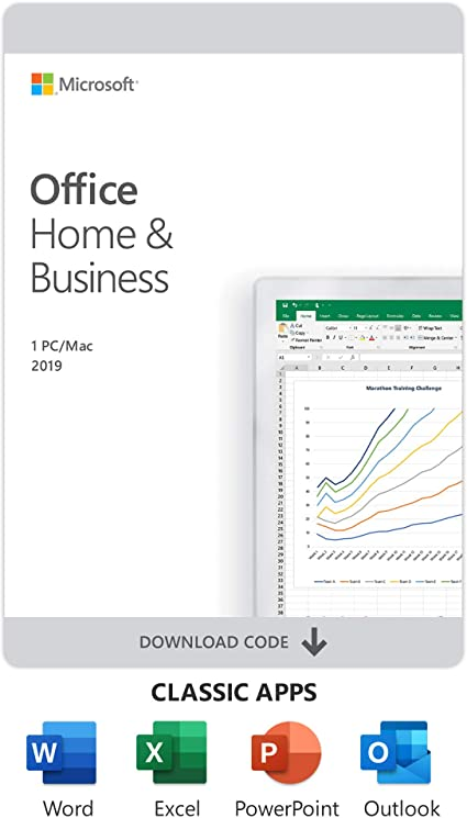 Amazon Com Microsoft Office Home And Business 2019 Download 1 Person Compatible On Windows 10 And Apple Macos Software