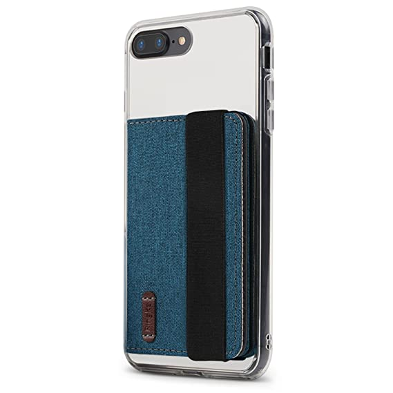 amazon com ringke flip card holder with elastic hand strap blue