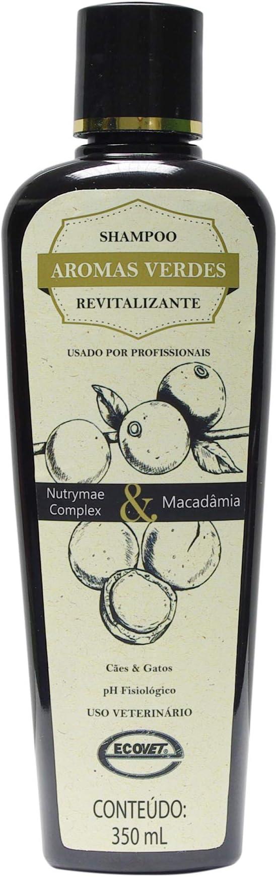 Aromas Verdes Shampoo Reparador & Revitalizador 350ml Ecovet para Cães, 350ml por ECOVET