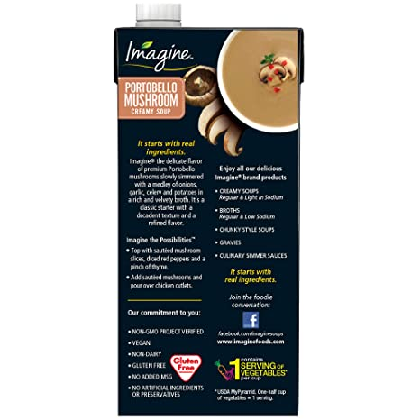 Imagine Creamy Soup, Portobello Mushroom, 32 oz