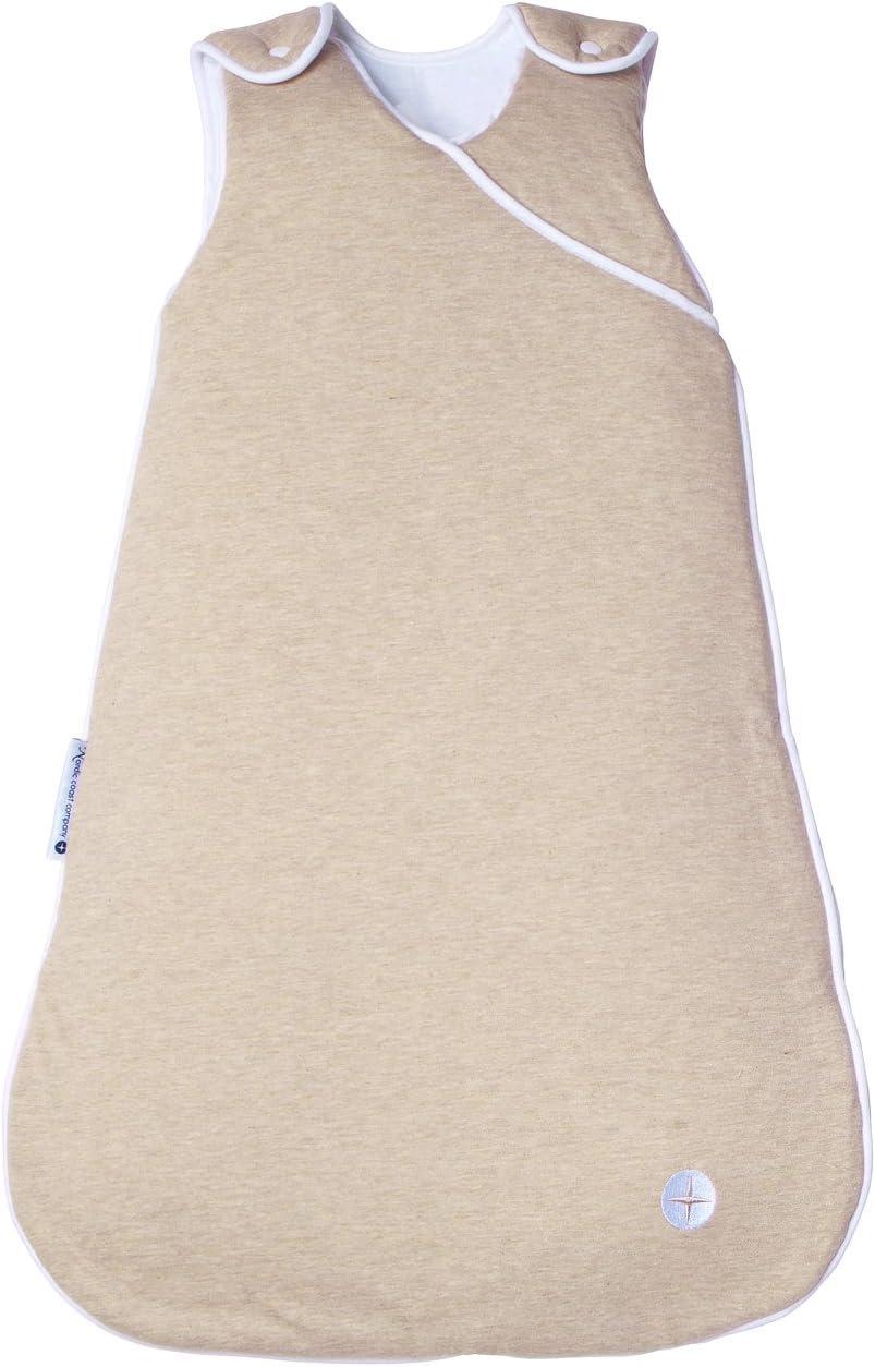 Nordic Coast bebé saco de dormir, 2,5tog, 100% algodón de Oeko-Tex, para niños y niñas, varios tamaños desde recién nacido hasta 3años beige beige Talla:6 to 18 Months (90cm)