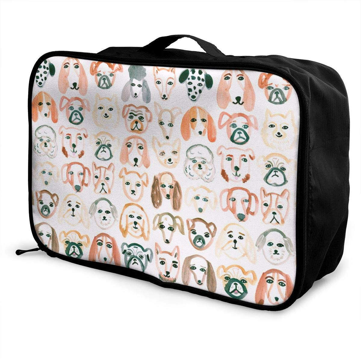 Portable Luggage Duffel Bag Dogs Of All Shapes Travel Bags Carry-on In Trolley Handle