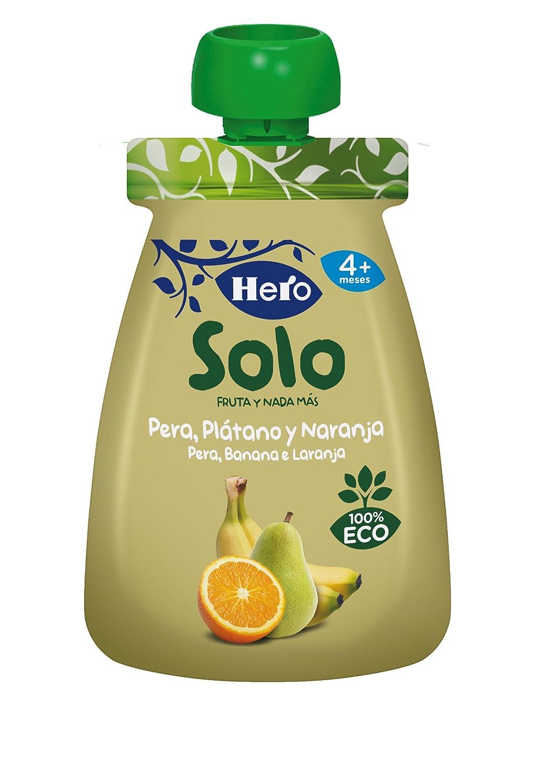 HERO Baby pera, plátano y naranja 100% ecológico - 100 gr: Amazon.es: Alimentación y bebidas