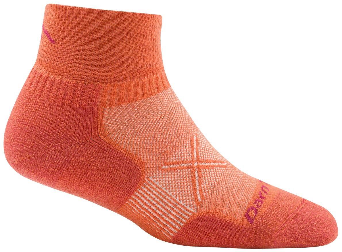 Darn Tough Vertex Quarter Crew Ultralight Socks - Women's Coral Small by Darn Tough (Image #1)