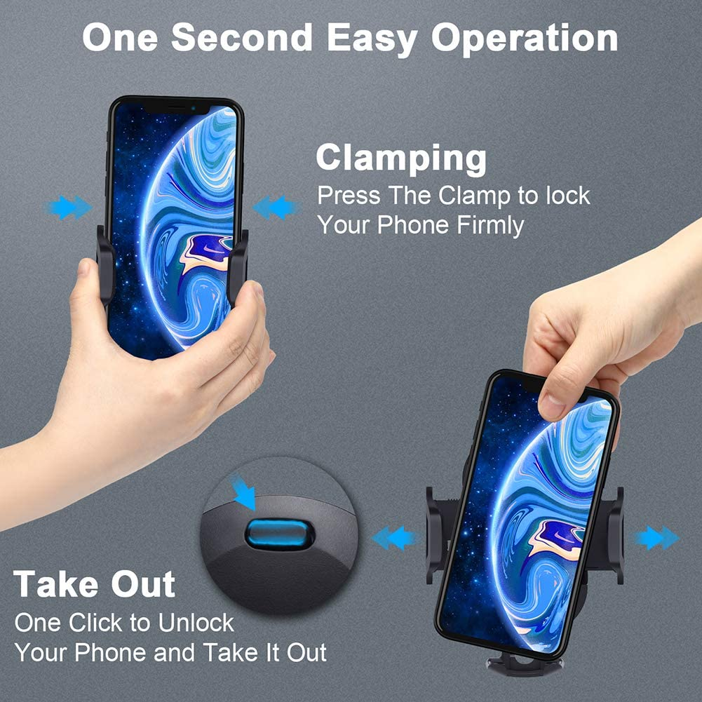 2020 Upgraded Car Phone Mount,3-in-1 Car Cell Phone Holder for Dashboard,Windshield /&Air Vent,Phone Holder for Car with Strong Sticky Gel Pad,Long Extend Arm /&360/°Rotation,Compatible for All of Phones
