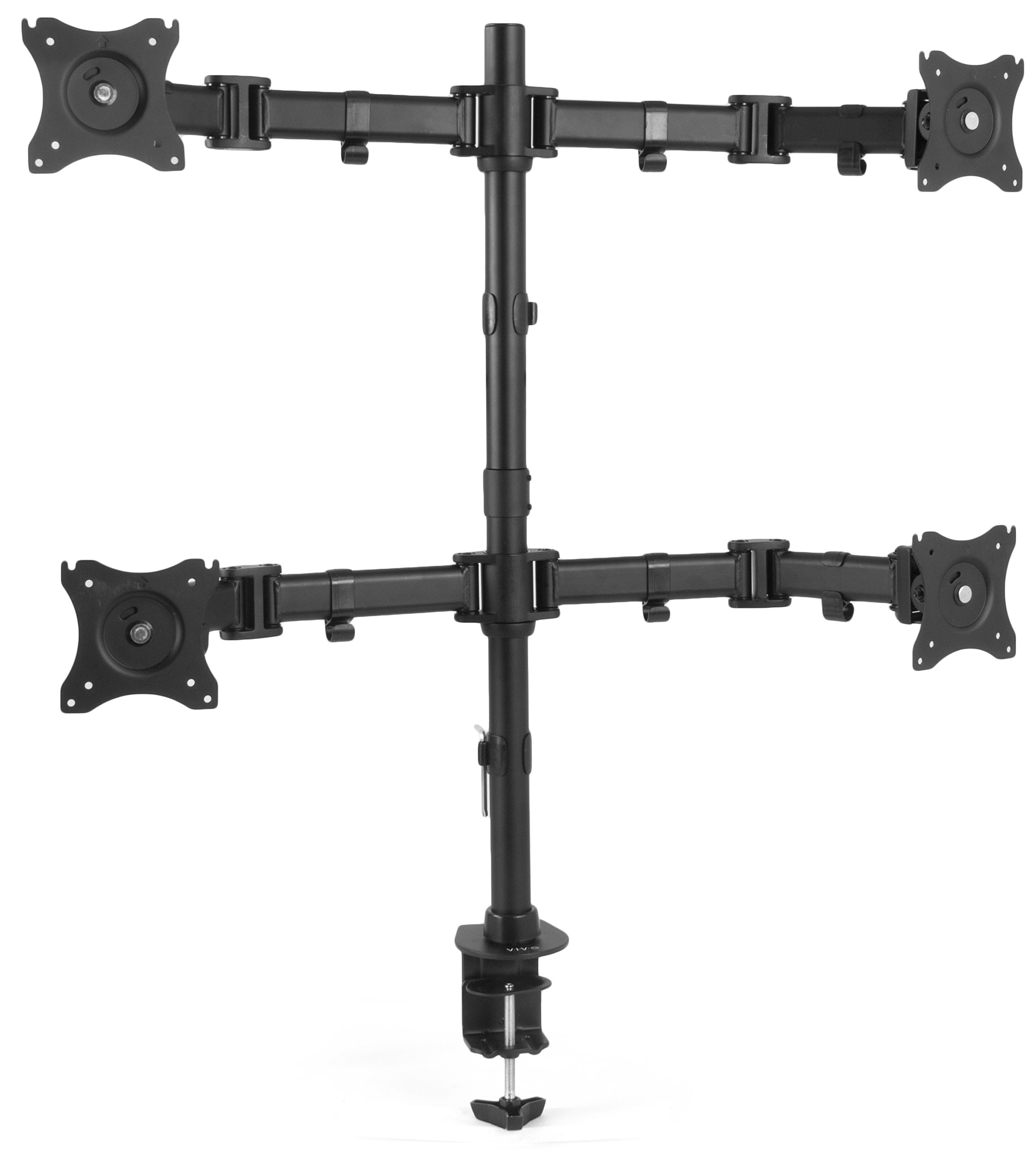 VIVO Quad Monitor Fully Adjustable Heavy Duty Desk Mount Stand for 4 LCD Screens up to 27 inches (STAND-V004M) by VIVO