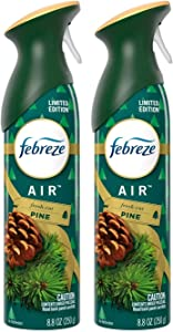 Febreze Air - Air Freshener Spray - Fresh-Cut Pine - Limited Edition Holiday Collection 2020 - Net Wt. 8.8 OZ (250 g) Per Bottle - Pack of 2 Bottles