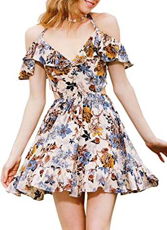 Zantec Vestido elegante, Vestido estampado con flores, vestido ...